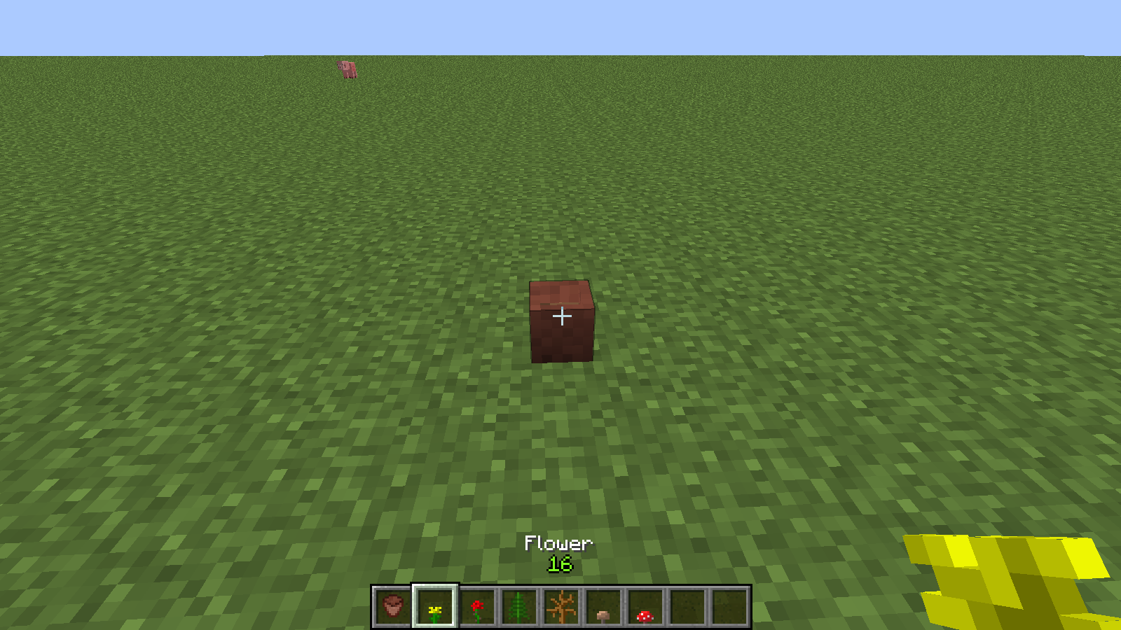 "[MC ] Can not put a plant in a flower pot with the ""Sneak"" key"