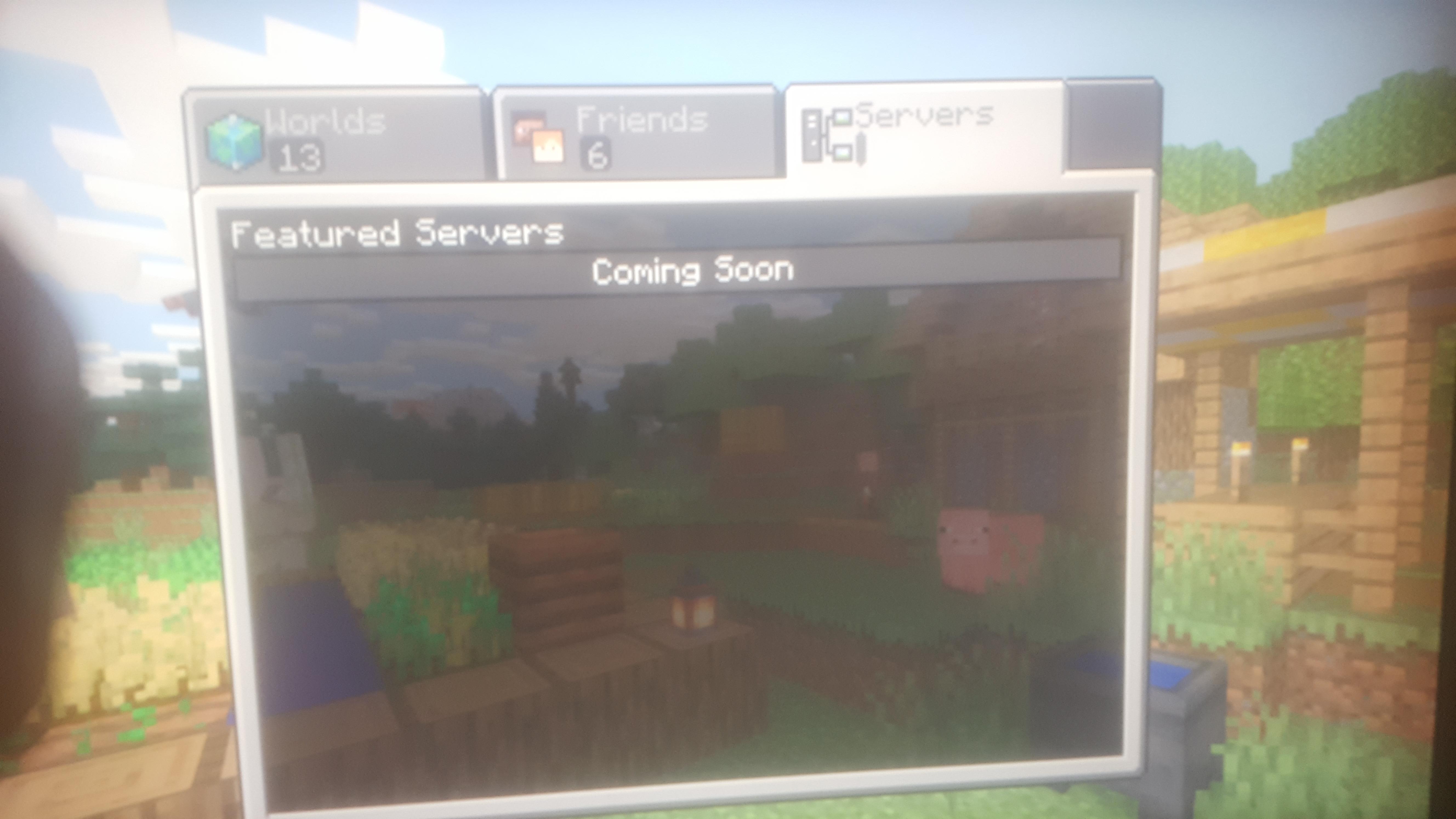 MCPE 55911 Featured Server List Says Coming soon Jira
