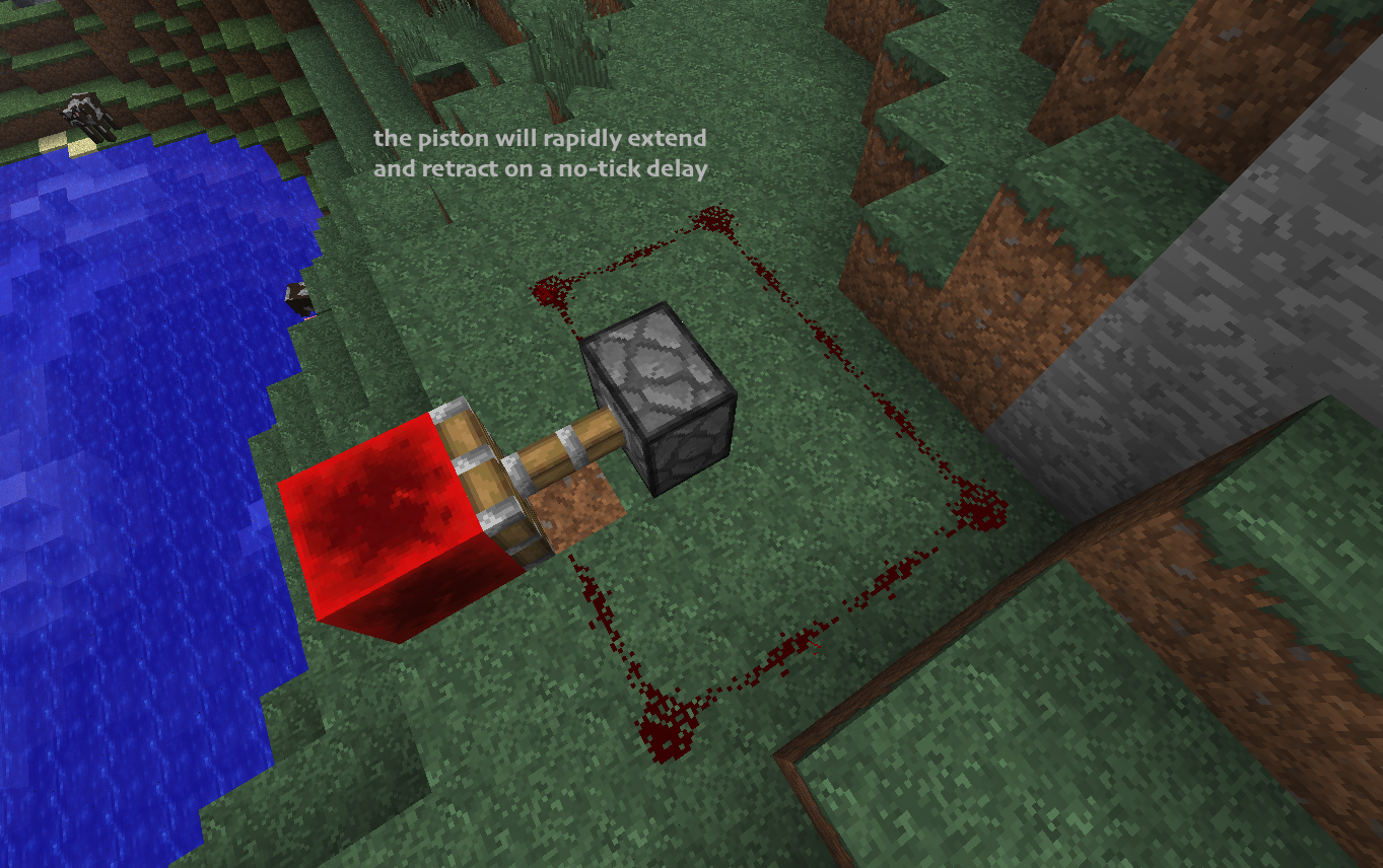 MC-11888] Sticky piston + block of redstone clock will not