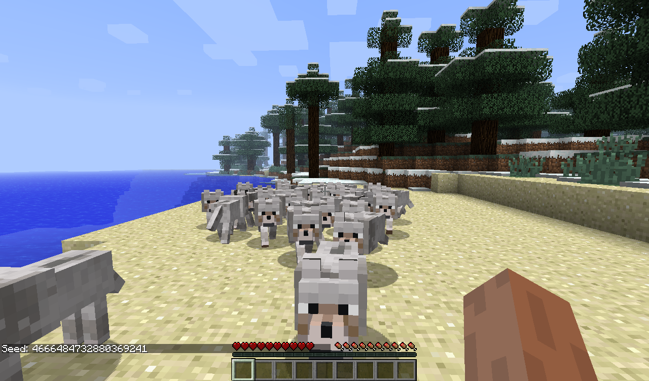 MC-675] Wild Wolves and ocelots spawn rapidly near player - Jira