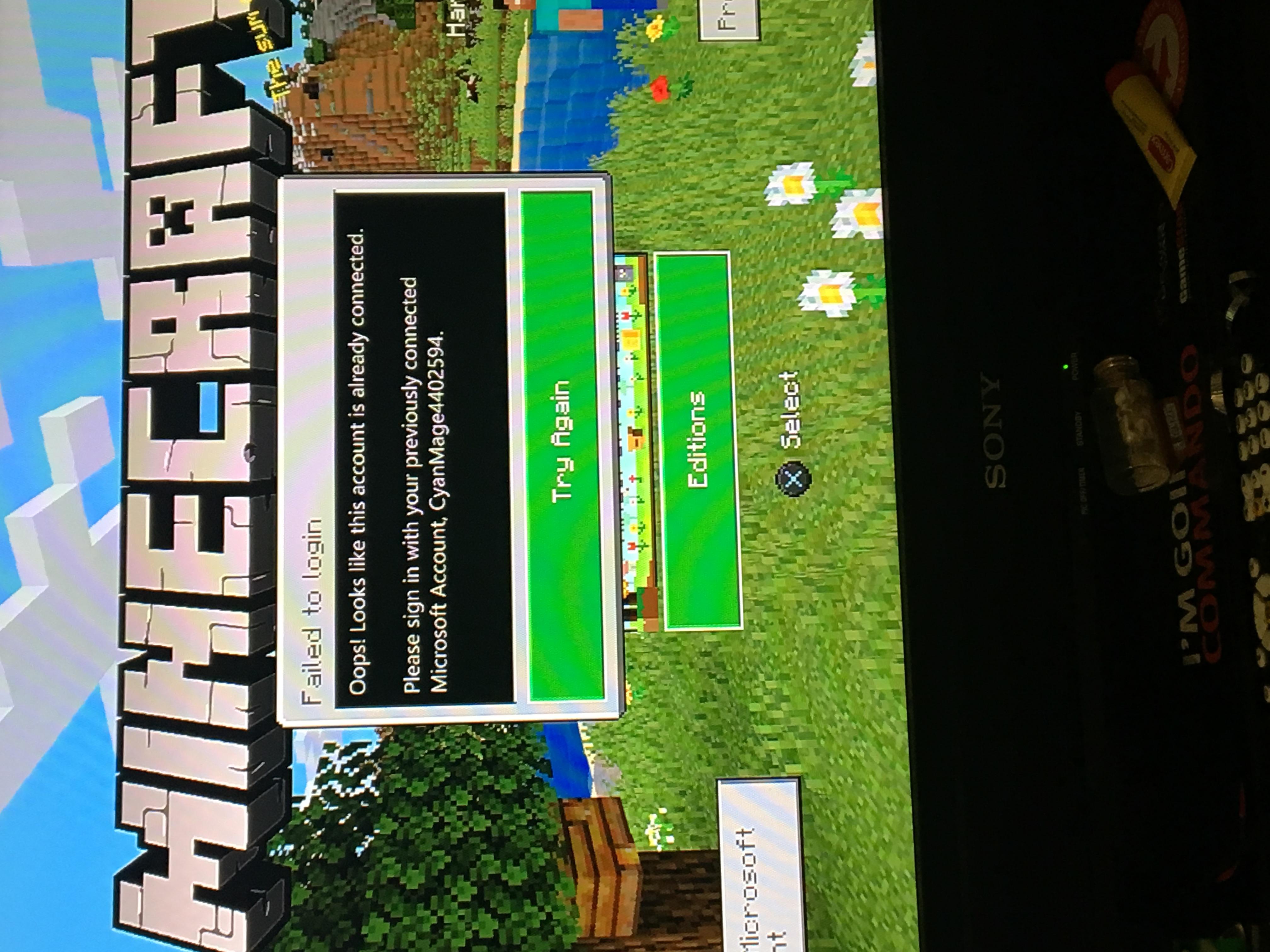 Failed To Login Minecraft Bedrock Malia Lozano