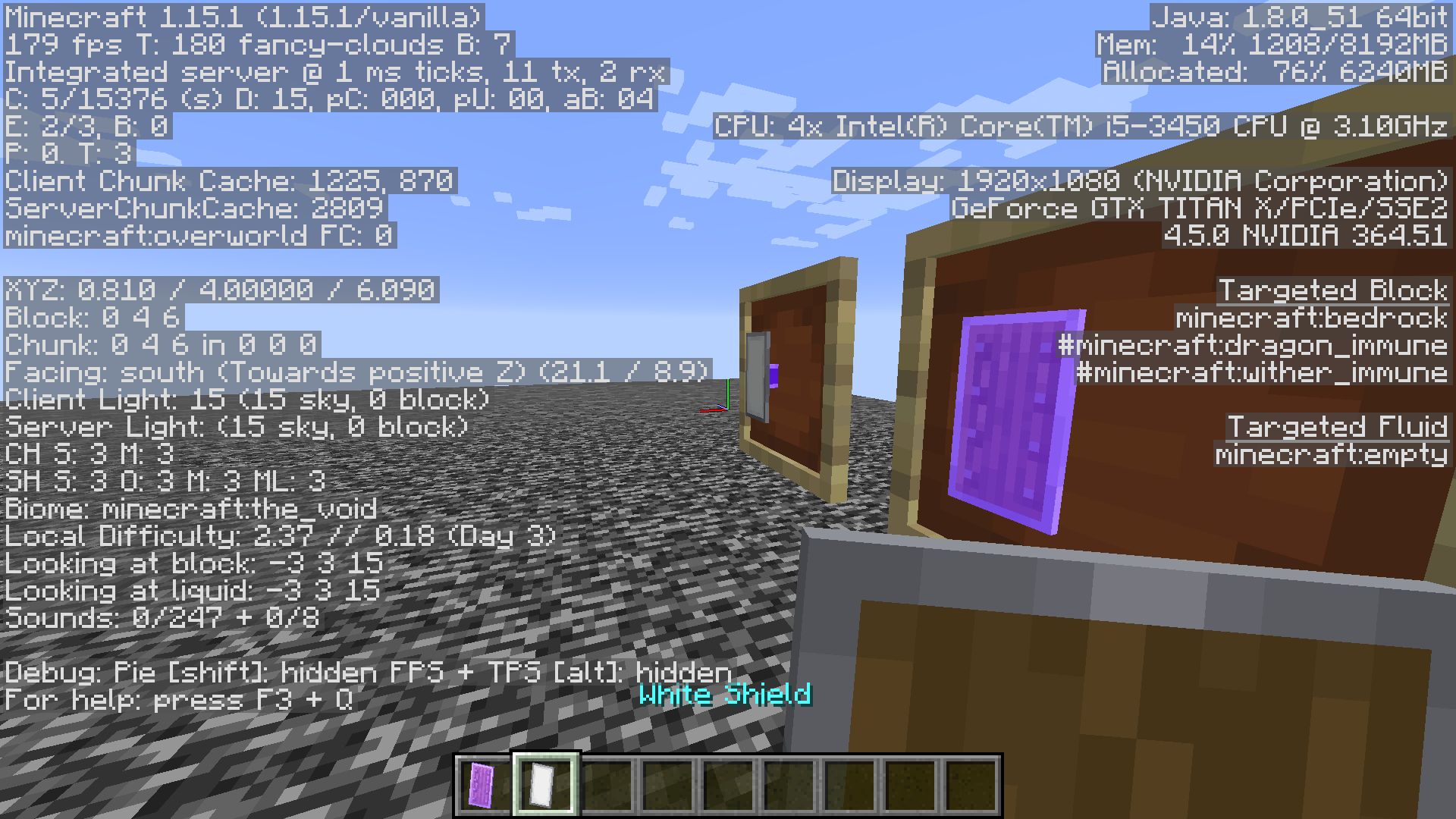 MC-1222] 122.1225.122 Broken Enchantment Glint On Shields With Banners