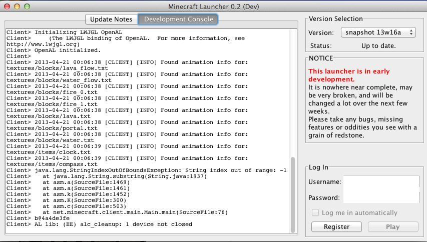 minecraft launcher wont open mac