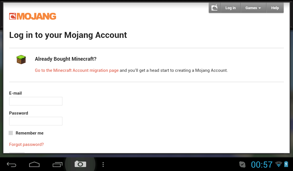MCPE-3603] Login to Mojang Account on Android doesn't work
