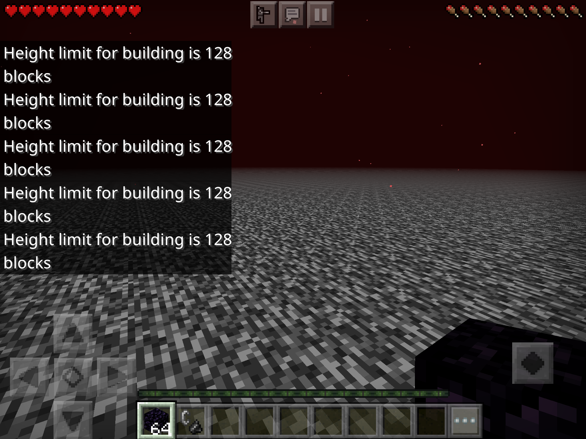 Mcpe 86664 You Can T Build On The Nether Roof Jira