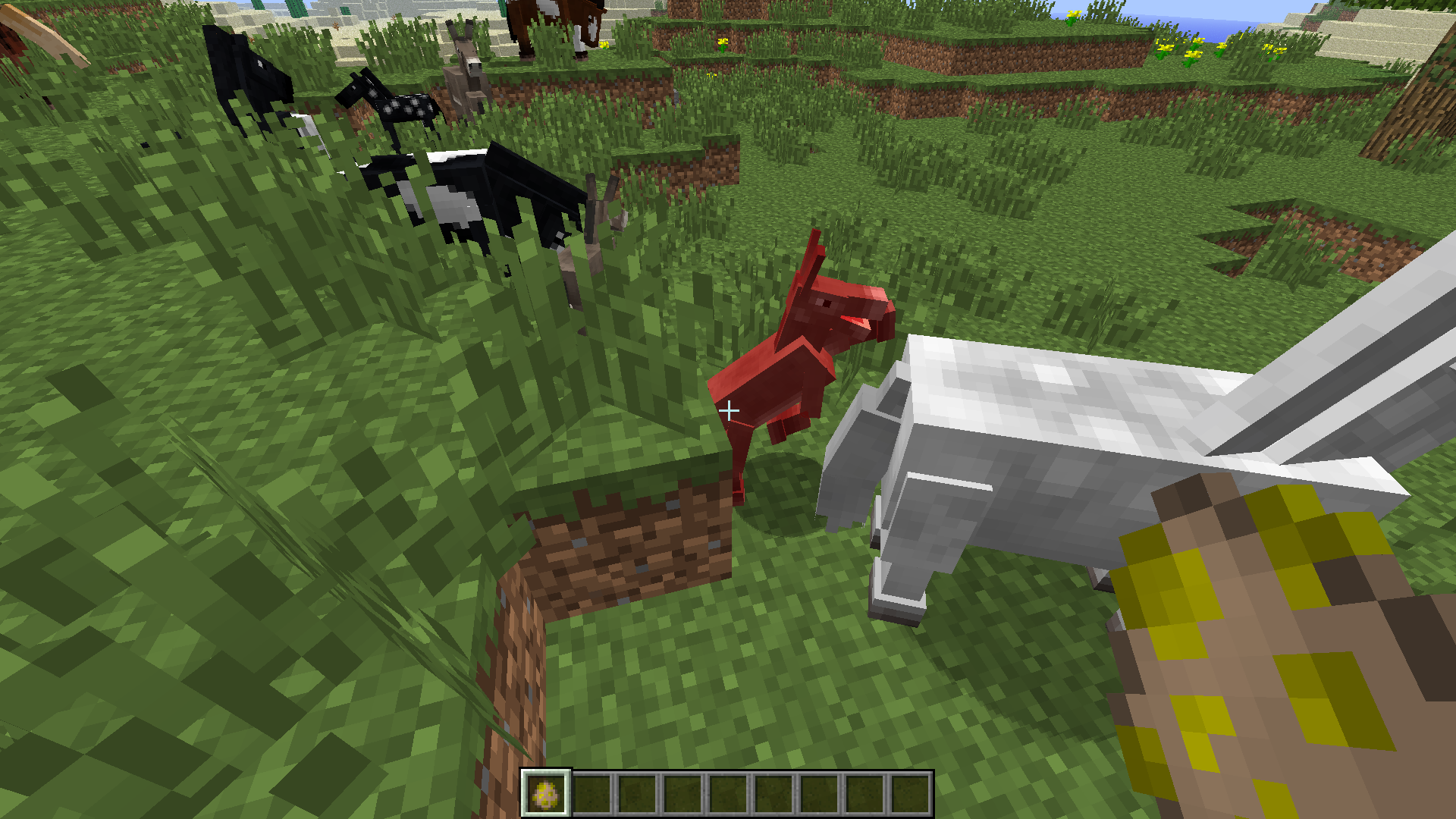 Mc 13632 Horses Can Be Pushed Into Blocks And Then Take Suffocation