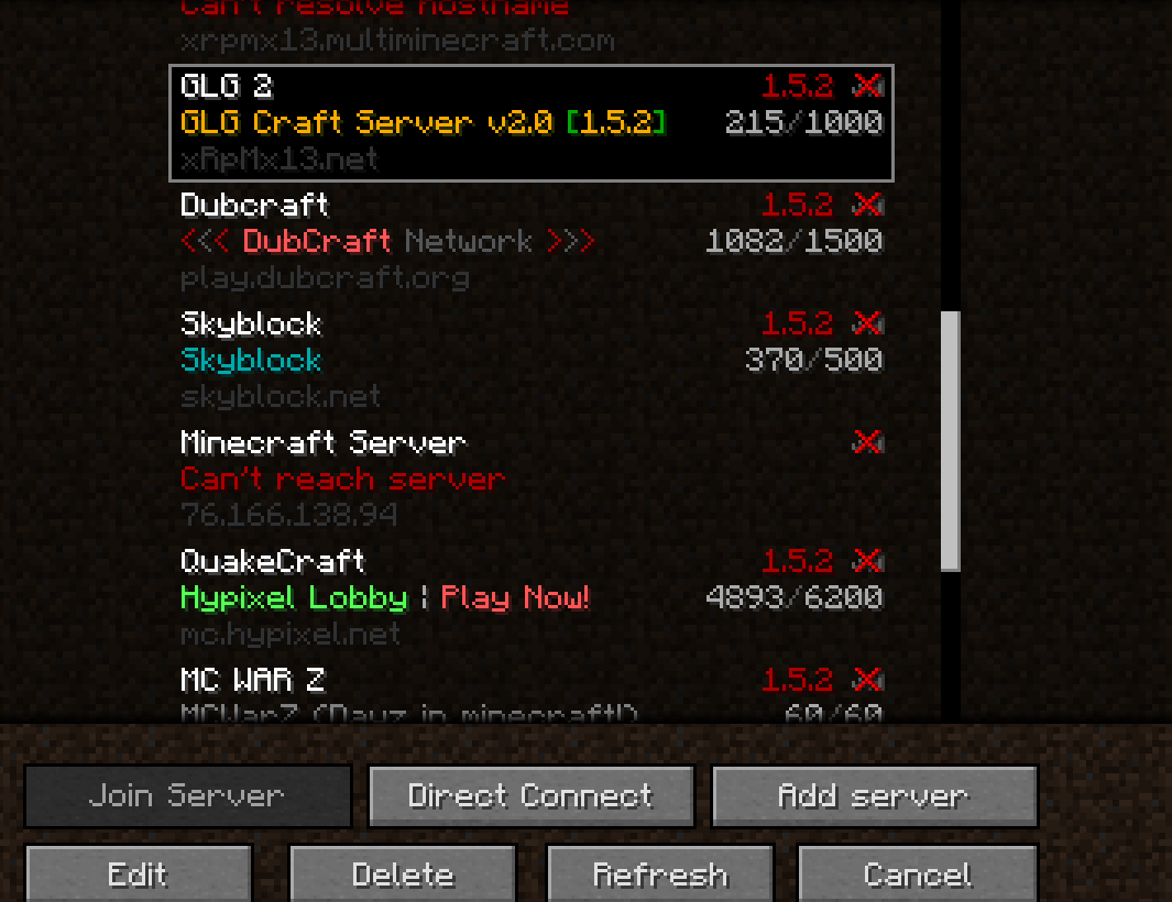 MC 20375 Join server button not clickable on any servers on my