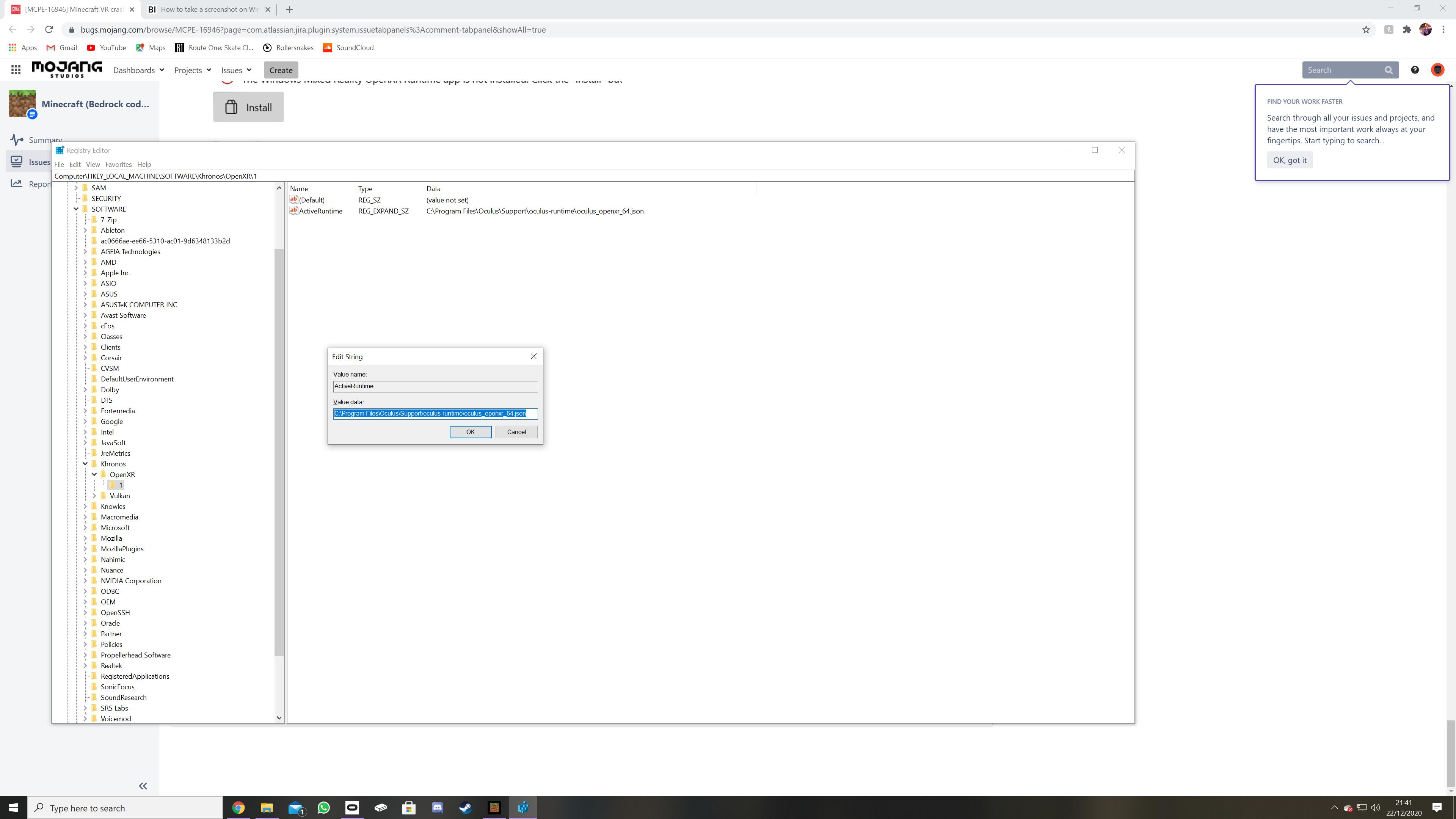 MCPE-12] Minecraft VR crashes at loading screen - Jira