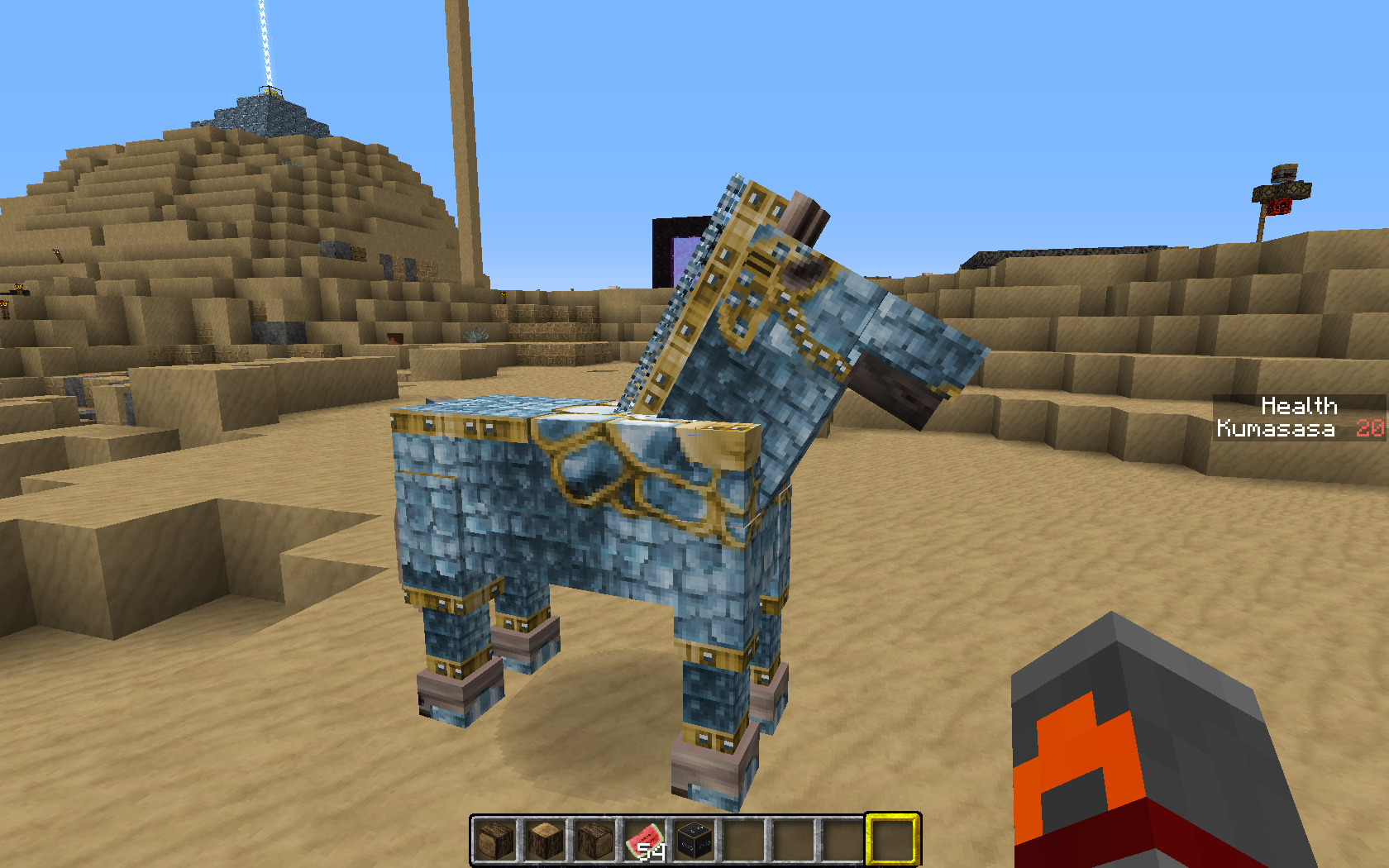 Mc 25995 Horse Armor Texture Not Rendering Completely On Right Side
