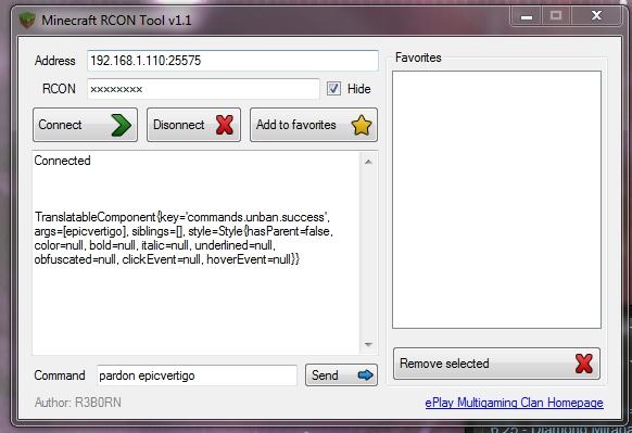 Скачать minecraft rcon tool