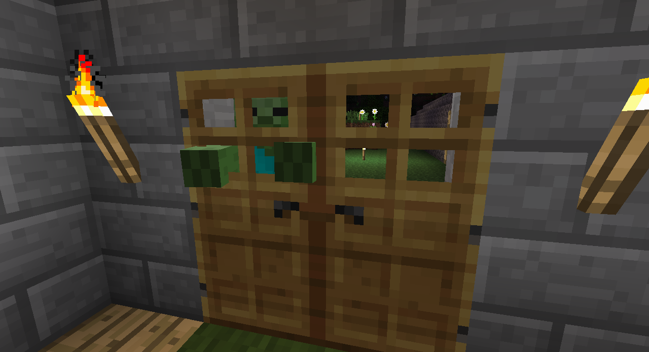MC-12] Zombies not attacking doors - Jira
