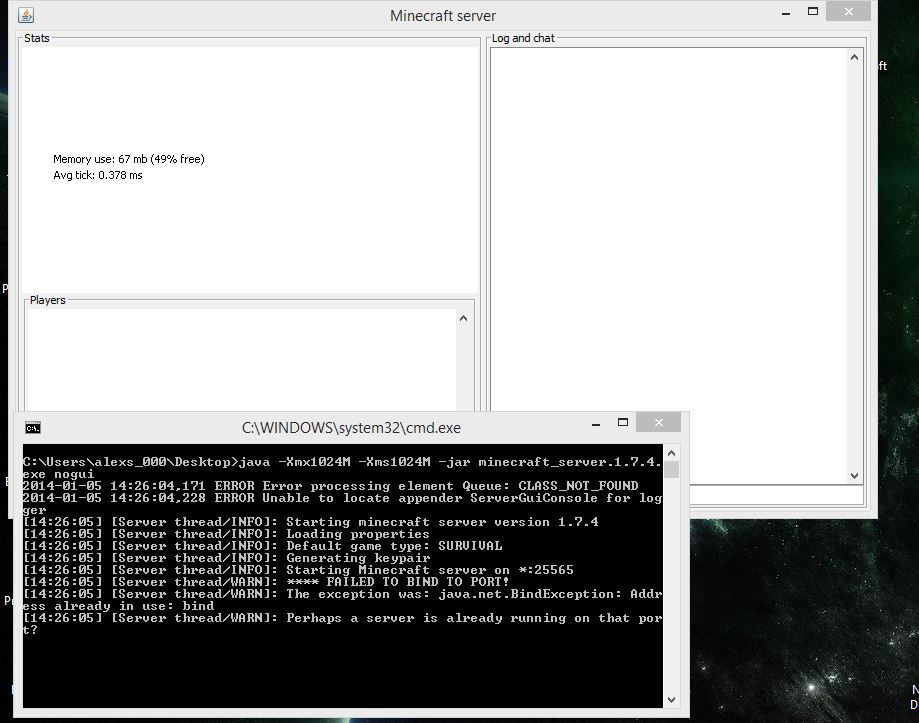 MC-38515] Server: Unable to locate appender ServerGuiConsole