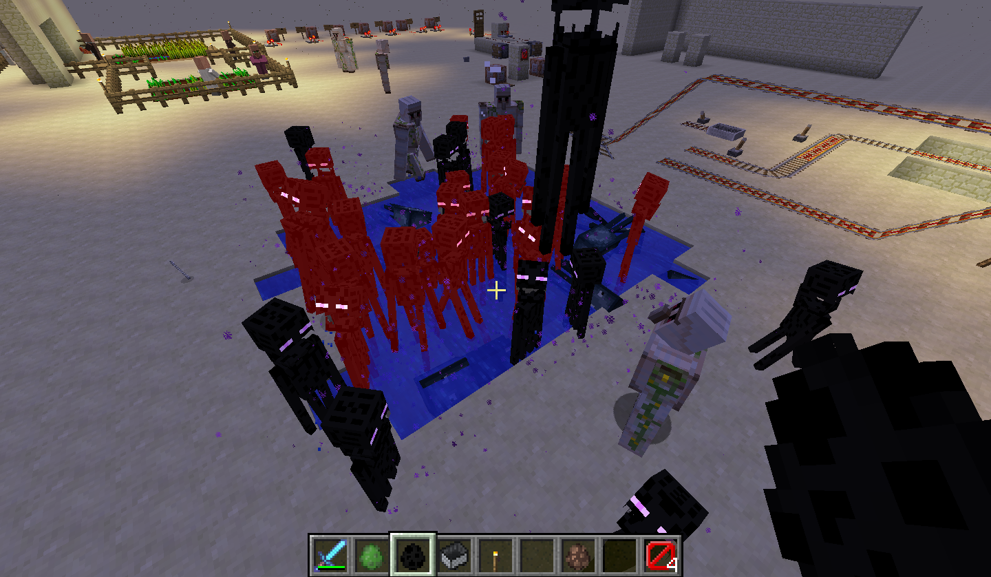MC-47437] Endermen do not teleport out of water, lava or