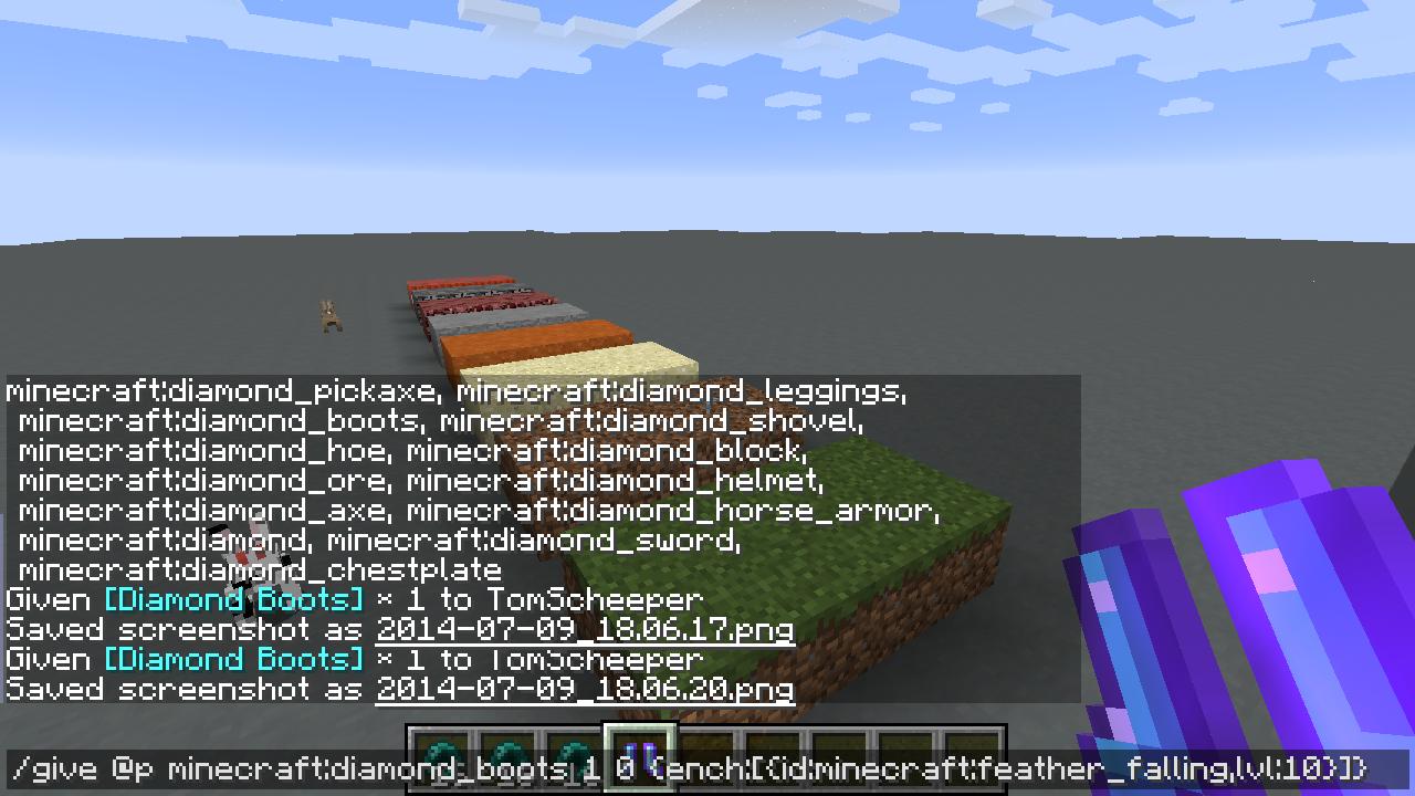 minecraft enchants id