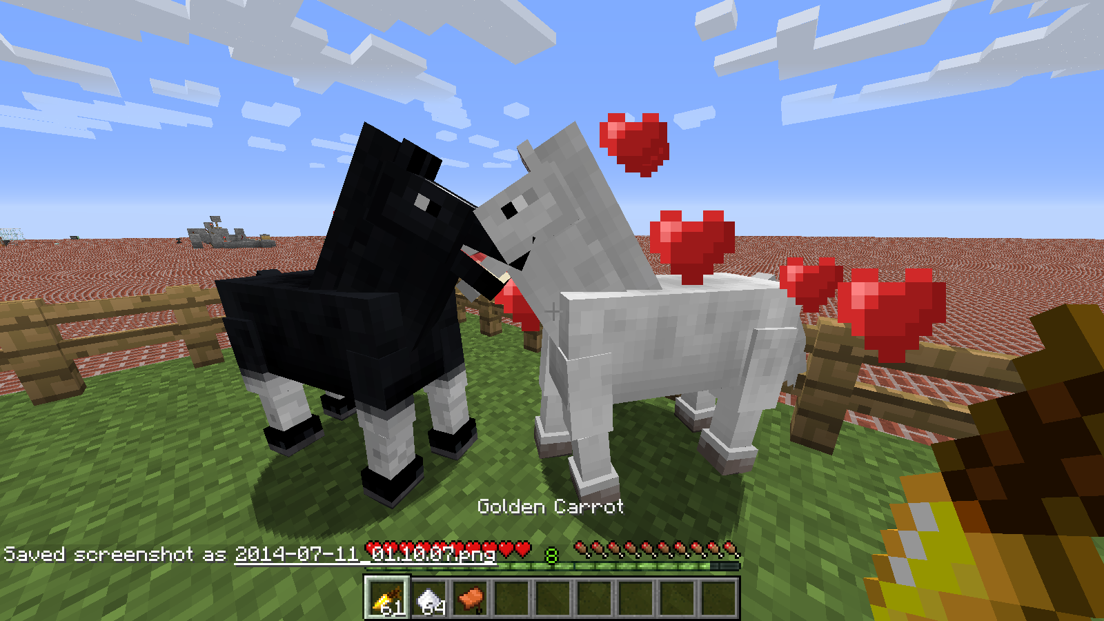 how to ride a horse in minecraft
