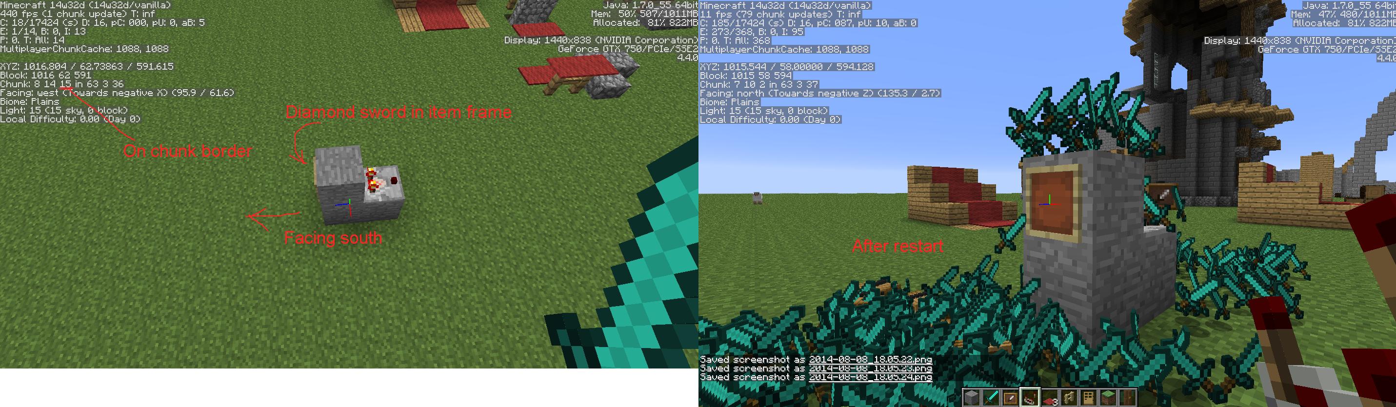 MC-66196] Dupe glitch with Item frames & comparators - Jira