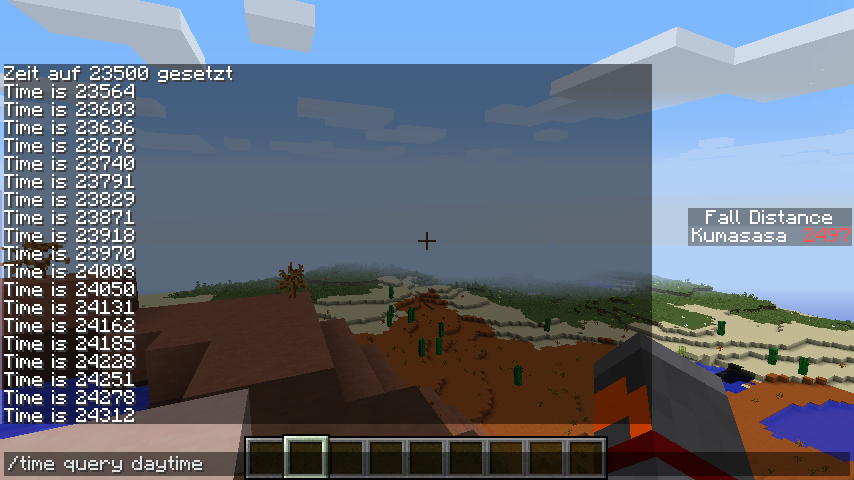 how to change day night cycle minecraft