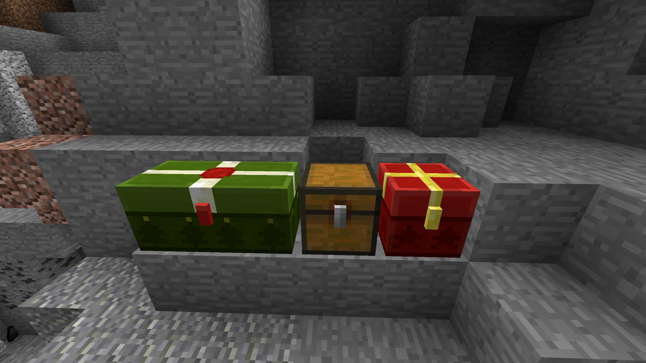 MC-42150] On Christmas trapped chests don't have texture of ...