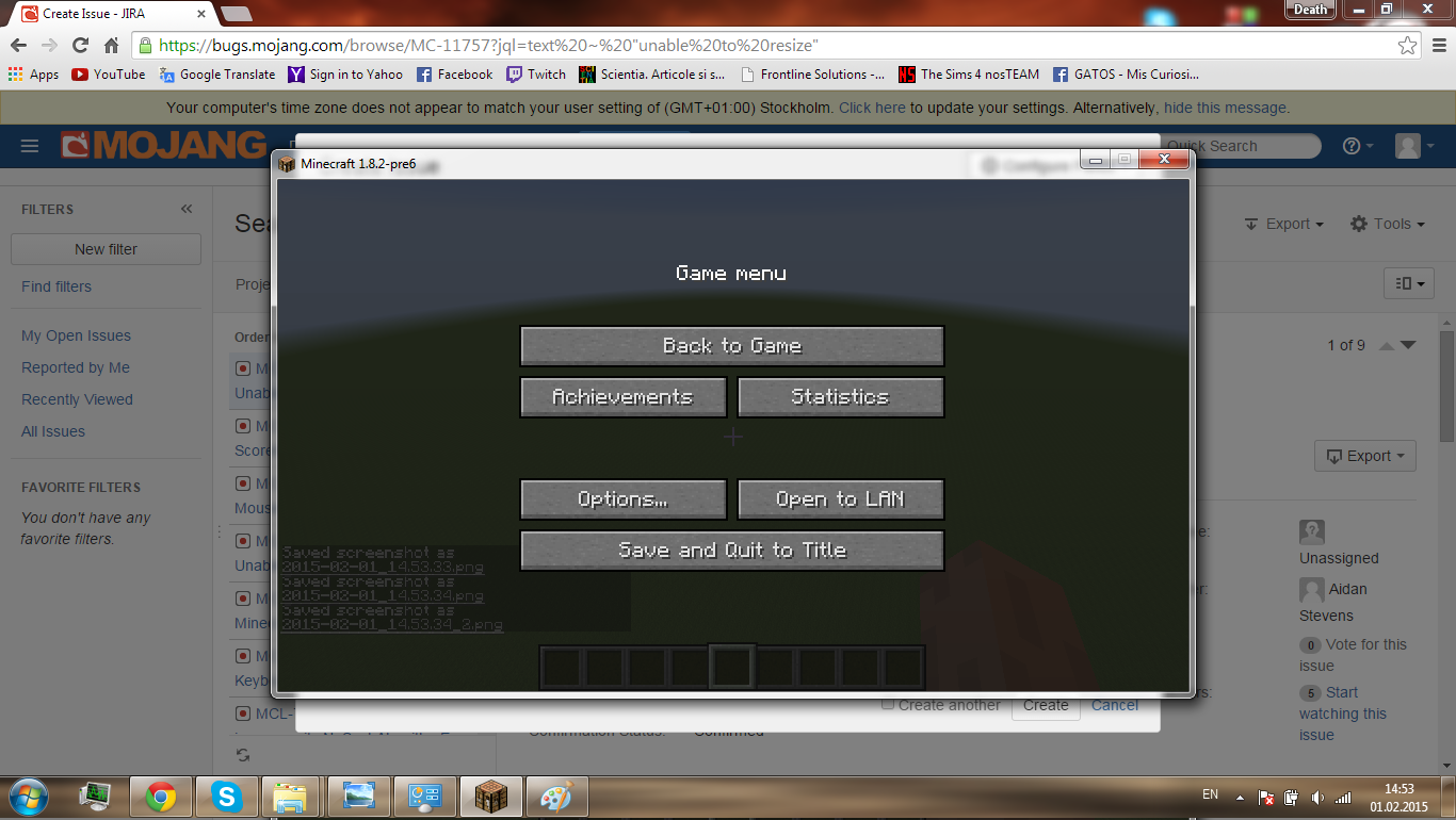 minecraft cant change window size