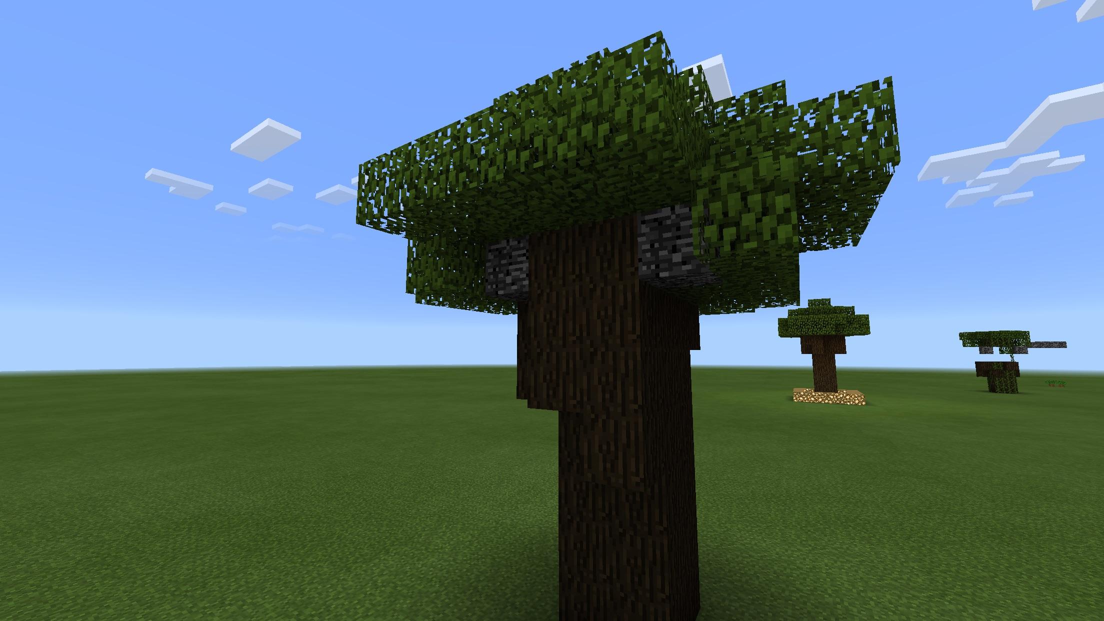 how to grow dark oak saplings in minecraft pe