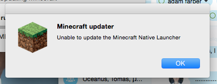 cant download minecraft native launcher