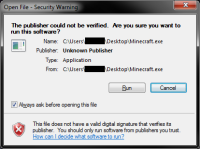 Minecraft Launcher Security Warning.png