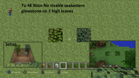 Glowstone not visable to 2 high leaves.png