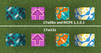 Glazed Terracotta MCPE 1.1.0.1 VS 17w13a.png