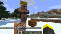 8-new villager summoned, immidiately gets farmer job and loses custom trades.png