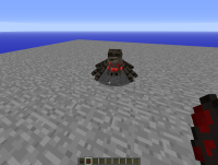 When i removed the eyes from the spider texture.png