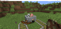 Zombified Piglin minecart bug in 20w22a.PNG