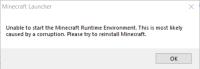 Minecraft Launcher-Minecraft Runtime Environment Error.png