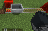 minecart redstone block bounce.png