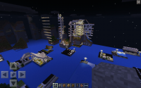Minecraft glitch_buildings partially gone.png